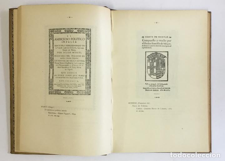 Libros antiguos: MANUAL GRÁFICO-DESCRIPTIVO DEL BIBLIÓFILO HISPANO-AMERICANO (1475-1850). - VINDEL, Francisco. - Foto 18 - 109022671