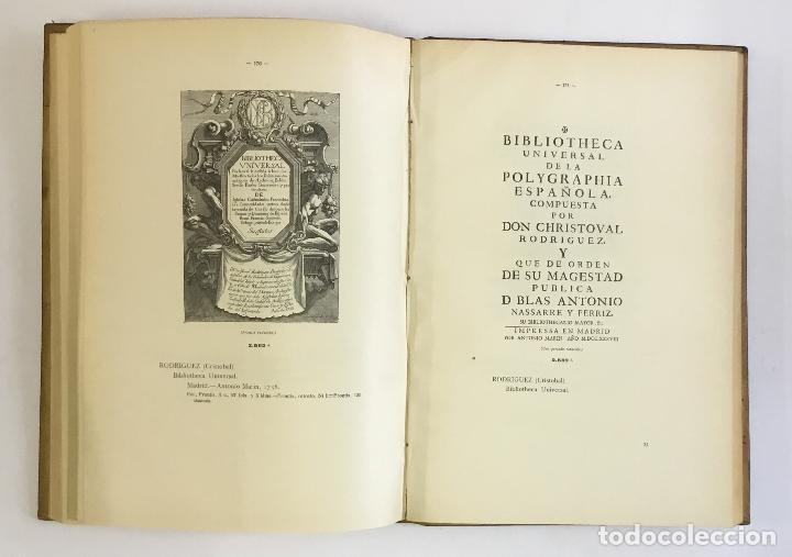 Libros antiguos: MANUAL GRÁFICO-DESCRIPTIVO DEL BIBLIÓFILO HISPANO-AMERICANO (1475-1850). - VINDEL, Francisco. - Foto 22 - 109022671