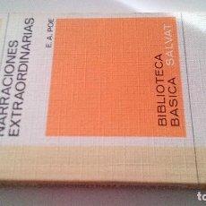 Libros antiguos: LIBRO RTV 3- NARRACIONES EXTRAORDINARIAS-EDGAR ALLAN POE-BIBLIOTECA BASICA SALVAT. Lote 113592975