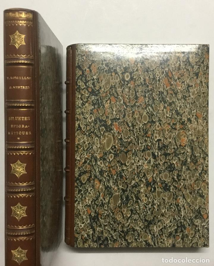 Libros antiguos: SILUETES EPIGRAMÀTIQUES. - ROIG I LLOP, Tomàs. [ Papel Japón] EDICION DE 15 EJEMPLARES. BIBLIOFILIA. - Foto 2 - 113686047