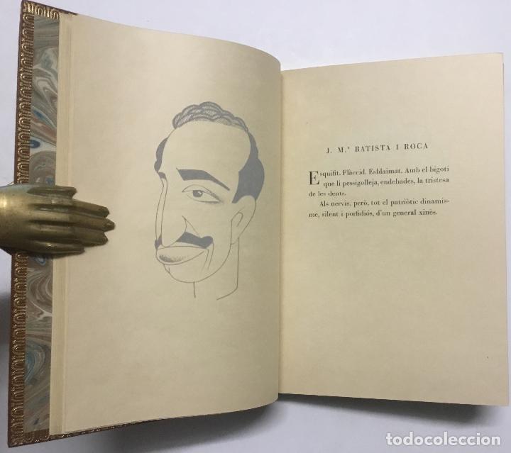 Libros antiguos: SILUETES EPIGRAMÀTIQUES. - ROIG I LLOP, Tomàs. [ Papel Japón] EDICION DE 15 EJEMPLARES. BIBLIOFILIA. - Foto 9 - 113686047