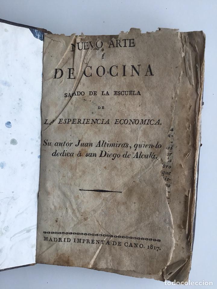 NUEVO ARTE DE COCINA,DE JUAN ALTIMIRAS. MADRID 1817 (Libros Antiguos, Raros y Curiosos - Cocina y Gastronomía)