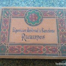 Libros antiguos: EXPOSICION UNIVERSAL DE BARCELONA - RECUERDOS -- ANDONARD Y CIA -- . Lote 113710355