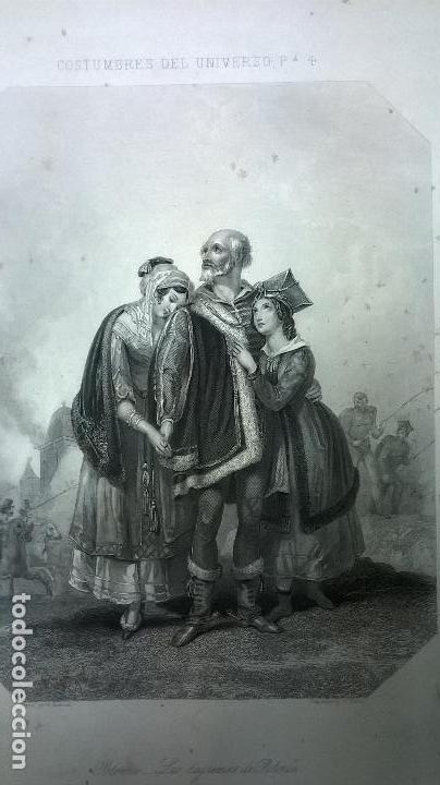 Libros antiguos: Libro.Costumbres del universo.Contiene 18 grabados al acero.Medida 28x38.Año 1864.423 pg - Foto 15 - 113724443