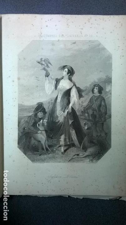 Libros antiguos: Libro.Costumbres del universo.Contiene 18 grabados al acero.Medida 28x38.Año 1864.423 pg - Foto 17 - 113724443