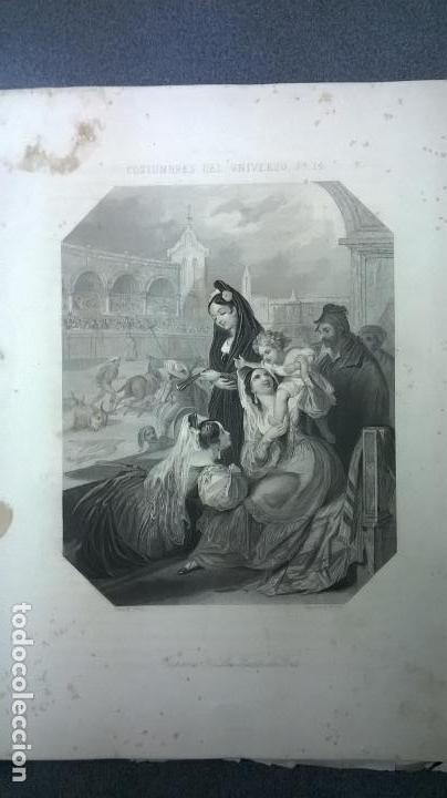 Libros antiguos: Libro.Costumbres del universo.Contiene 18 grabados al acero.Medida 28x38.Año 1864.423 pg - Foto 30 - 113724443