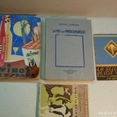 Libros antiguos: LOTE DE LIBROS SOBRE EL VINO (4 LIBROS). Lote 113814775