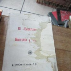Libros antiguos: LIBRO EL REPARTIMENT DE BURRIANA Y VILLARREAL 1935 VALENCIA L-17521. Lote 113842151