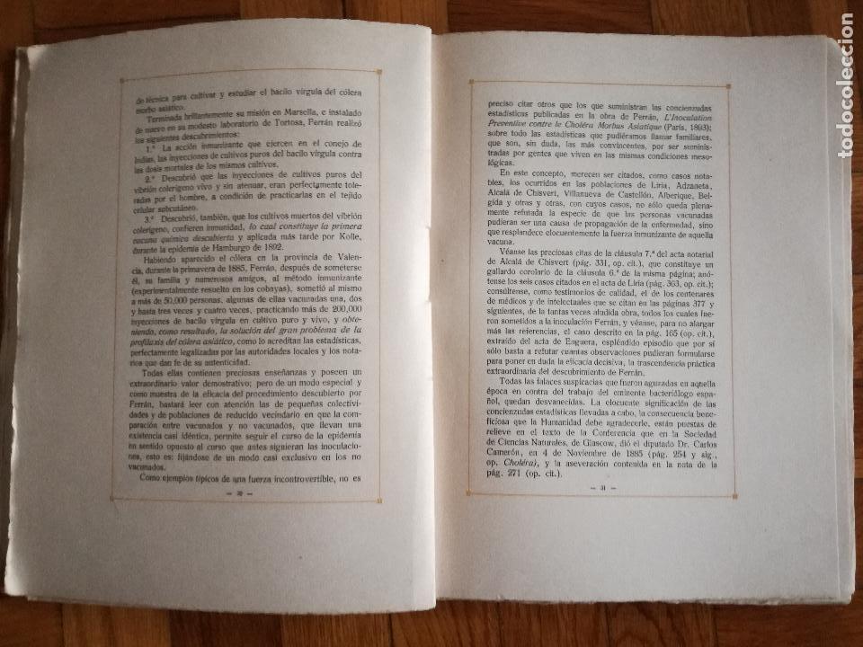 Libros antiguos: FERRÁN La Vida de un Sabio Útil año 1917 - edicatoria autógrafo firma del Autor - Libro antiguo - Foto 10 - 113956575