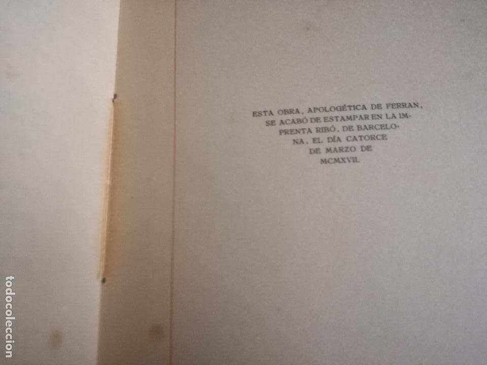 Libros antiguos: FERRÁN La Vida de un Sabio Útil año 1917 - edicatoria autógrafo firma del Autor - Libro antiguo - Foto 13 - 113956575