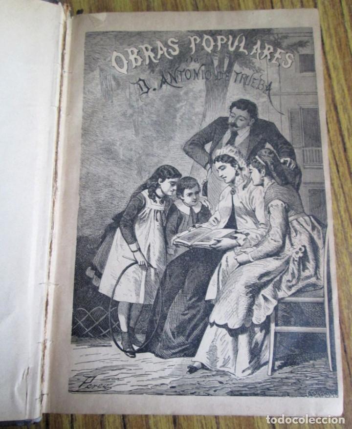 Libros antiguos: Obras populares ANTONIO DE TRUEBA // Edit. Miguel Guijarro – Madrid 1875 // Con grabados - Foto 4 - 113966611