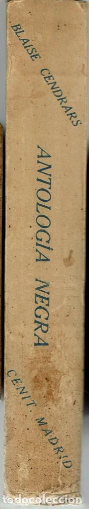 Libros antiguos: ANTOLOGÍA NEGRA, POR BLAISE CENDRARS. AÑO 1930. (3.3) - Foto 3 - 114011875