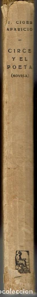 Libros antiguos: CIRCE Y EL POETA, POR M. CIGES APARICIO. AÑO ¿1926? (3.3) - Foto 3 - 114064155