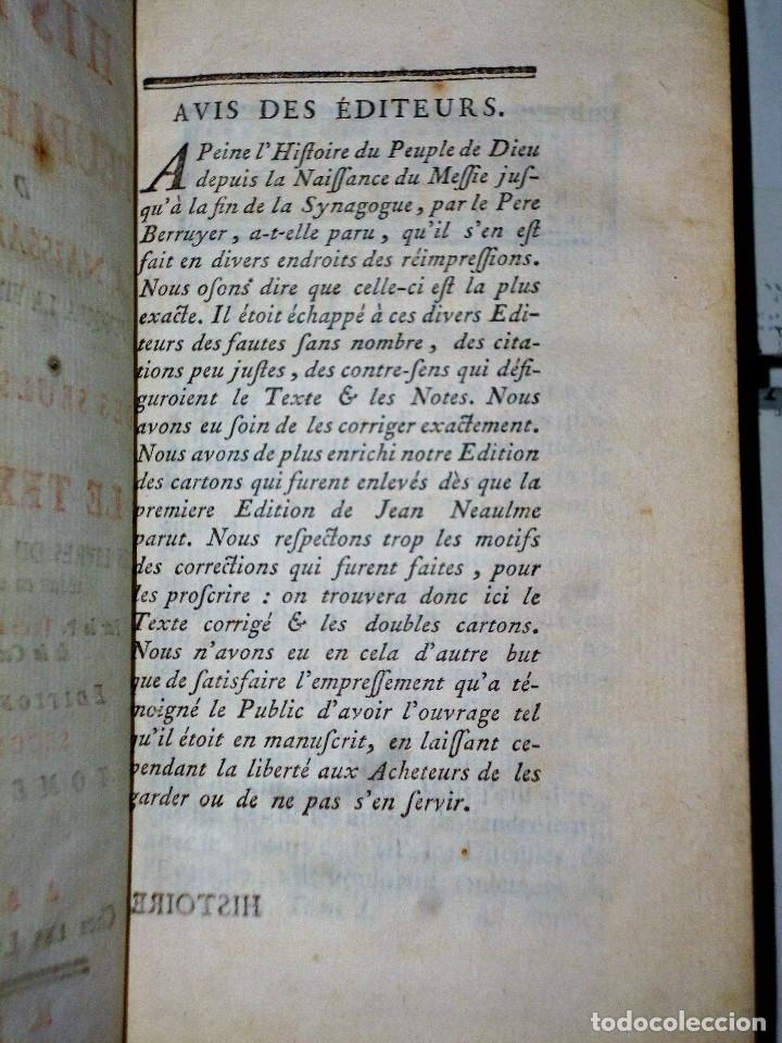 Libros antiguos: HISTOIRE DU PEUPLE DE DIEU, DEPUIS SON ORIGINE JUSQU´A LA NAISSANCE DU MESSIE(SECONDE PARTIE, 3 TOM) - Foto 3 - 77261493