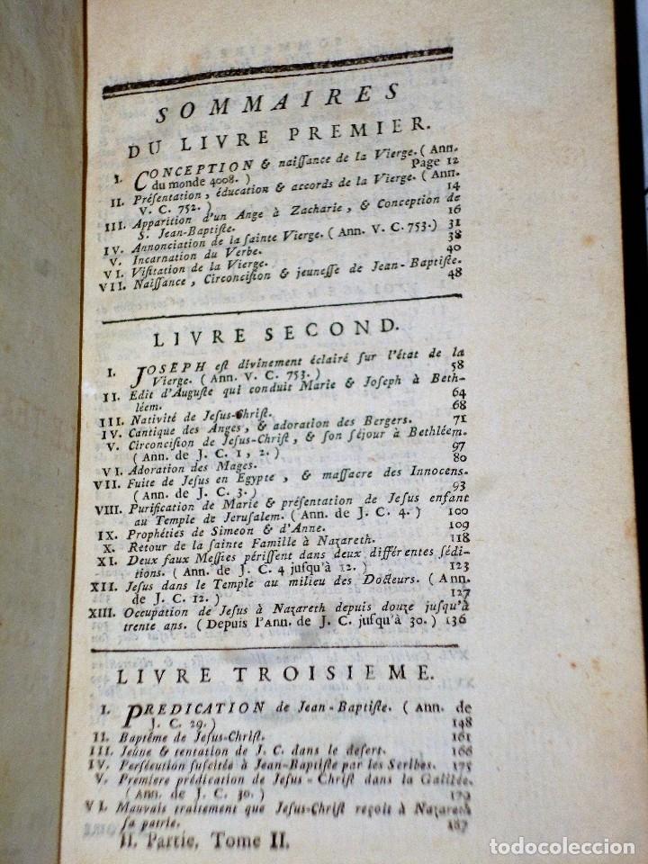 Libros antiguos: HISTOIRE DU PEUPLE DE DIEU, DEPUIS SON ORIGINE JUSQU´A LA NAISSANCE DU MESSIE(SECONDE PARTIE, 3 TOM) - Foto 6 - 77261493