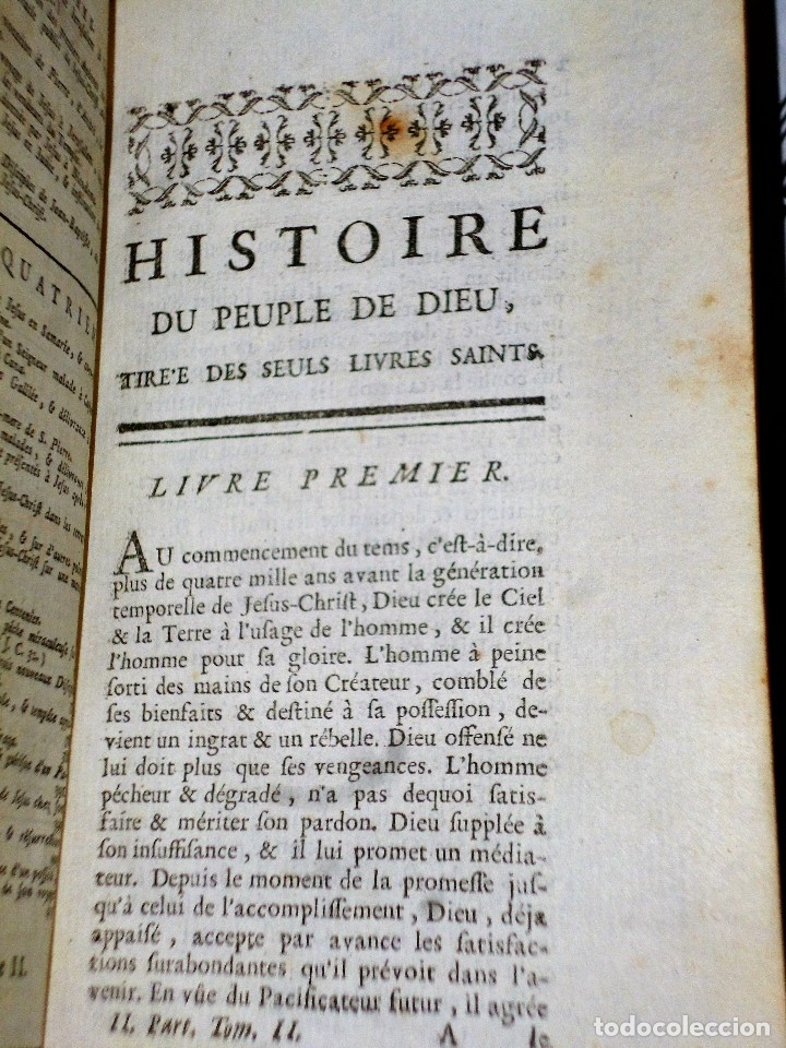 Libros antiguos: HISTOIRE DU PEUPLE DE DIEU, DEPUIS SON ORIGINE JUSQU´A LA NAISSANCE DU MESSIE(SECONDE PARTIE, 3 TOM) - Foto 7 - 77261493