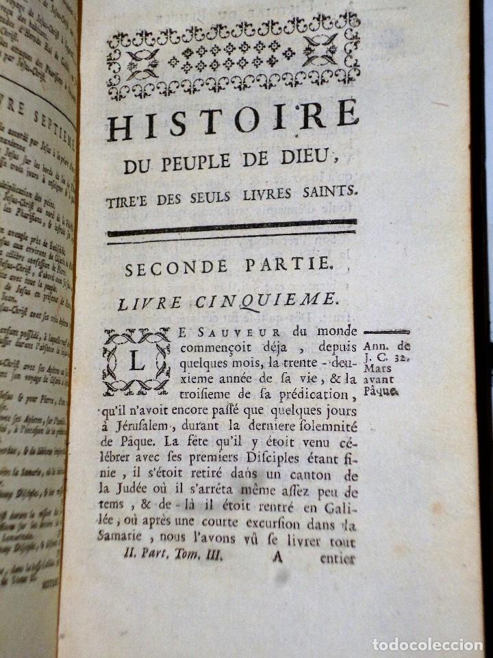 Libros antiguos: HISTOIRE DU PEUPLE DE DIEU, DEPUIS SON ORIGINE JUSQU´A LA NAISSANCE DU MESSIE(SECONDE PARTIE, 3 TOM) - Foto 9 - 77261493