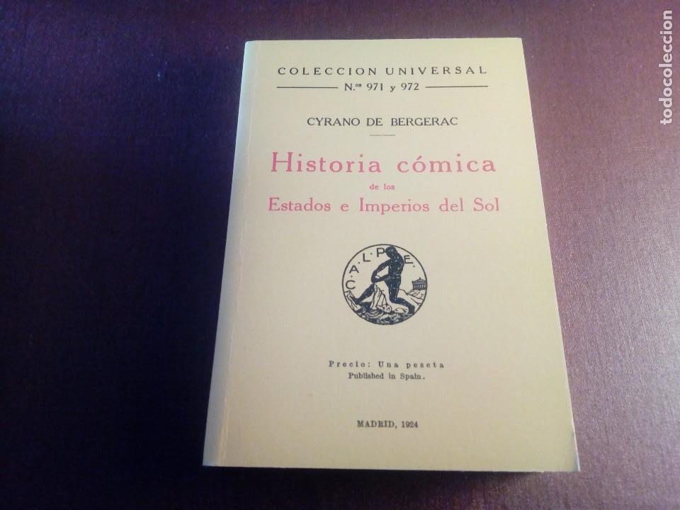 HISTORIA CÓMICA CYRANO DE BERGERAC FACSÍMIL (Libros antiguos (hasta 1936), raros y curiosos - Literatura - Narrativa - Otros)