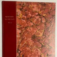 Libros antiguos: [SECRETARÍA DE NÁPOLES.] RESPUESTAS QUE SE DAN POR PARTE DEL SECRETARIO BASTIDA DE [MANUSCRITO.]. Lote 114155191