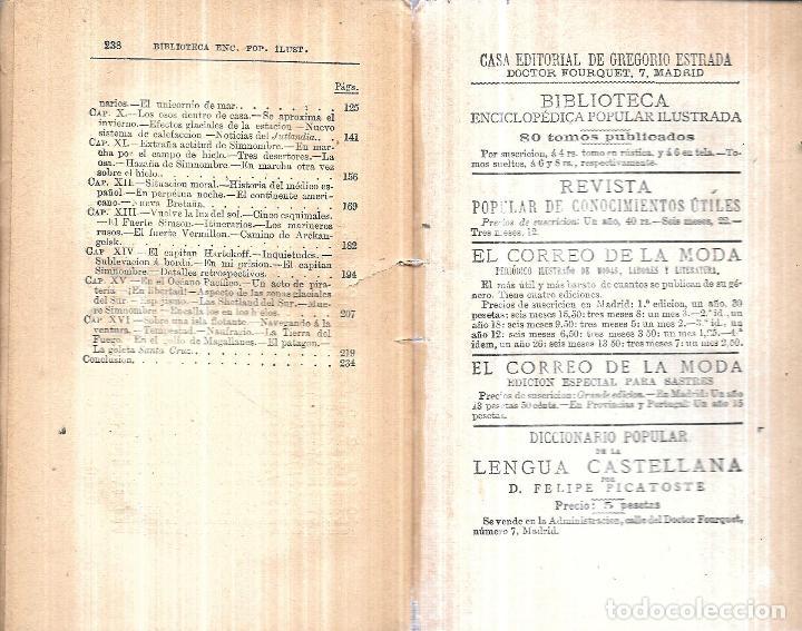 Libros antiguos: LAS REGIONES HELADAS DE LOS POLOS NORTE Y SUR. D. JOSE MORENO FUENTES Y D. JOSE CASTAÑO POSE.INTONSO - Foto 5 - 114158719