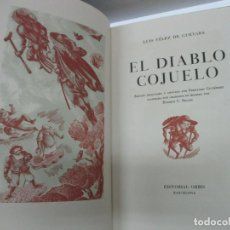 Libros antiguos: EL DIABLO COJUELO. - VELEZ DE GUEVARA, LUIS. [RICART, E. C. ILUSTR., BRUGALLA ENC.] EDICIÓN NUMERADA. Lote 114155131