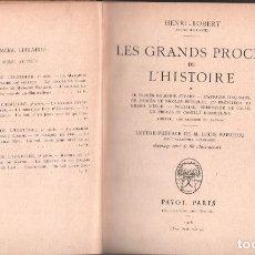 Libros antiguos: LES GRANDS PROCES DE L´HISTOIRE / HENRI- ROBERT / MUNDI-3074. Lote 114518051