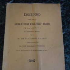 Libros antiguos: DISCURSO ACADEMIA DE CIENCIAS DE LA HABANA 1923. MEDIDAS 24,5X16,5 CMS.. Lote 114541335
