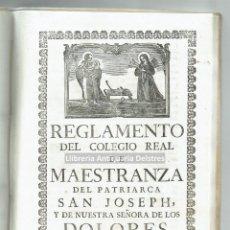 Libros antiguos: [NAVEGACION. REGLAMENTO PARA LA CONSTRUCCIÓN DE BARCOS EN MALLORCA, 1777] [ZALVIDE, MANUEL DE.]. Lote 114564851