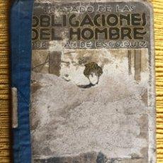 Libros antiguos: TRATADO DE LAS OBLIGACIONES DEL HOMBRE. Lote 114613594