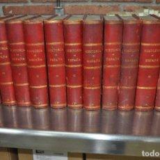 Libros antiguos: 17 TOMOS HISTORIA DE ESPAÑA - DON MODESTO LAFUENTE - DEL AÑO 1852 AL 1867 - AENM. Lote 114614663