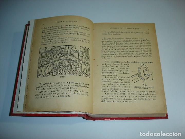 Libros antiguos: ¿QUIERE USTED COMER BIEN? CARMEN DE BURGOS (COLOMBINE) - RAMON SOPENA 1931 - Foto 3 - 114738715
