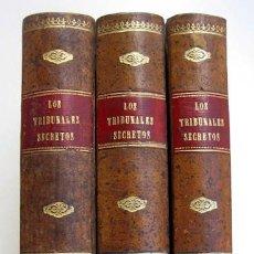 Libros antiguos: LOS TRIBUNALES SECRETOS, DE PABLO FEVAL. TERCERA EDICIÓN. 3 TOMOS OBRA COMPLETA. Lote 114745987