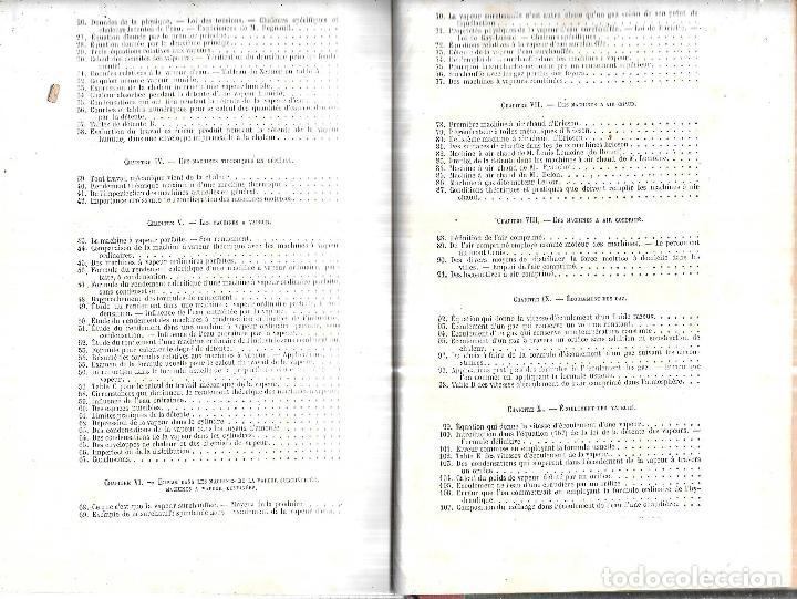 Libros antiguos: MANUEL L´INGENIEUR DES PONTS ET CHAUSSEES. MECANIQUE, MACHINES HYDRAULIQUES ET A VAPEUR. 1873. PARIS - Foto 4 - 114765059
