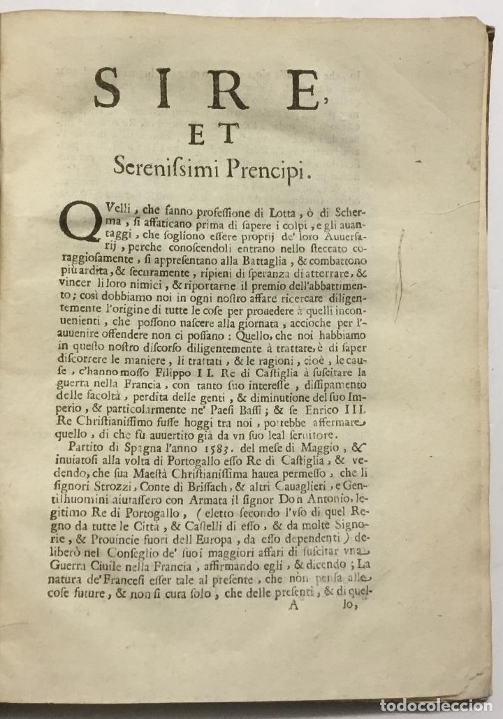 Libros antiguos: TRATTATO PARANETICO, OVERO ESSORTATORIO DEDICATO A' RÈ, PRENCIPI, POTENTATI, E REPUBLICHE DELL?EUROP - Foto 2 - 114799696