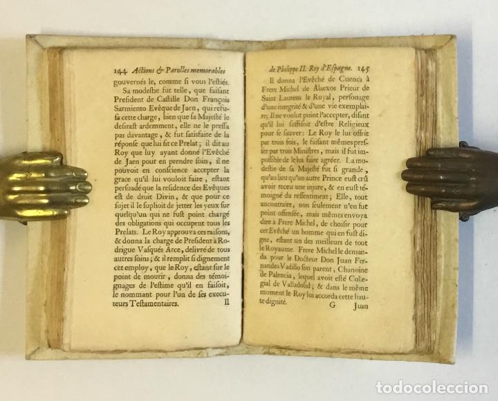 Libros antiguos: RECUEIL DES ACTIONS ET PAROLLES MEMORABLES DE PHILIPPE SECOND ROY D'ESPAGNE... 1671. - Foto 7 - 114799636