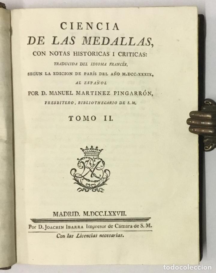 Libros antiguos: CIENCIA DE LAS MEDALLAS, con notas historicas i criticas... [JOBERT, Louis.] MONEDAS-MEDALLAS. - Foto 10 - 114799458