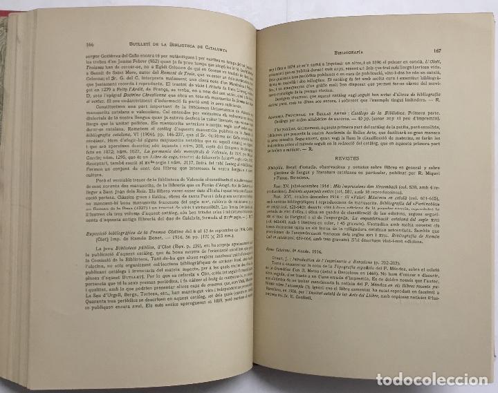 Libros antiguos: BUTLLETÍ DE LA BIBLIOTECA DE CATALUNYA. - [Revista.] 1914 - 1934. 8 tomos en 6 volumenes. - Foto 3 - 114799660