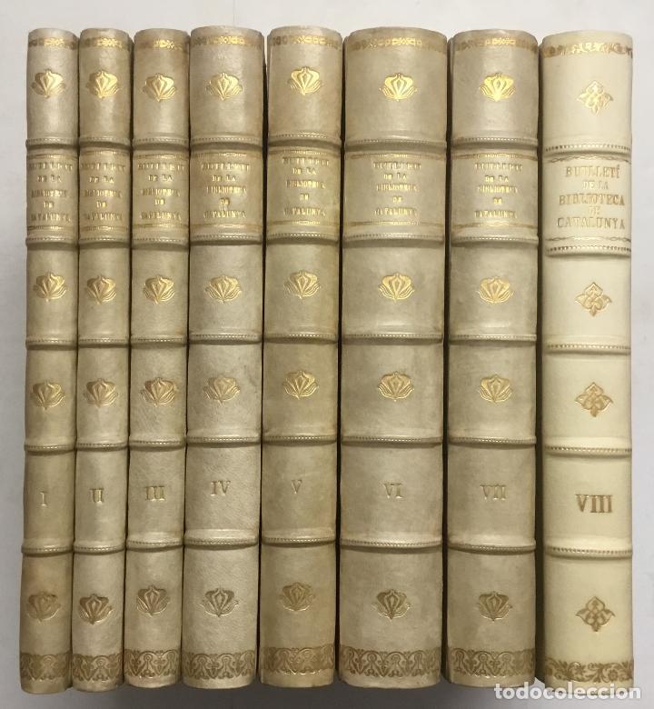 BUTLLETÍ DE LA BIBLIOTECA DE CATALUNYA. - [REVISTA.] 1914 - 1934. 8 TOMOS. (Libros Antiguos, Raros y Curiosos - Bellas artes, ocio y coleccionismo - Otros)