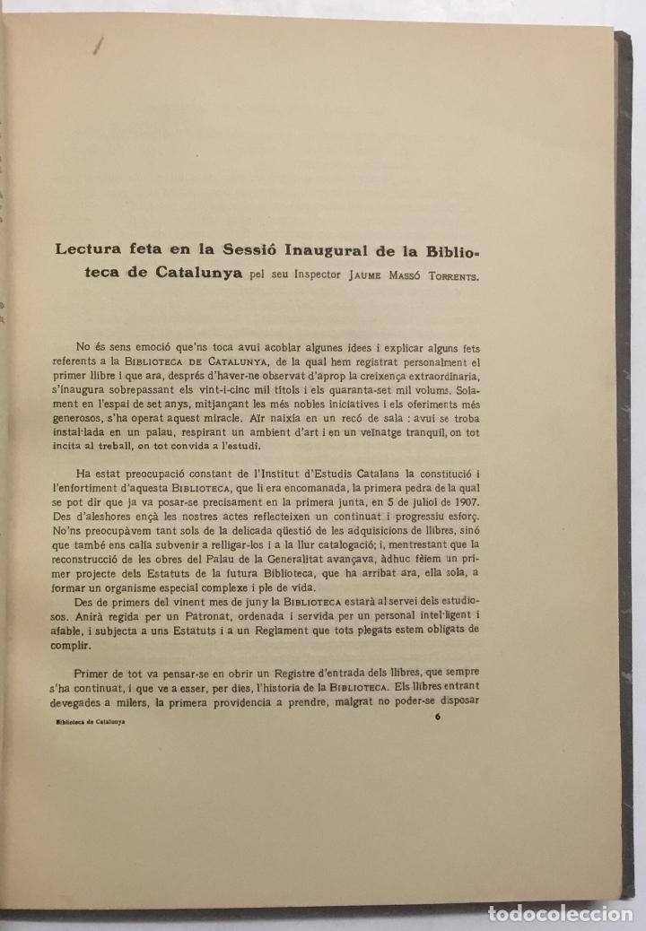 Libros antiguos: BUTLLETÍ DE LA BIBLIOTECA DE CATALUNYA. - [Revista.] 1914 - 1934. 8 tomos. - Foto 3 - 114799664