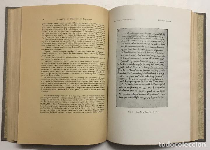 Libros antiguos: BUTLLETÍ DE LA BIBLIOTECA DE CATALUNYA. - [Revista.] 1914 - 1934. 8 tomos. - Foto 5 - 114799664
