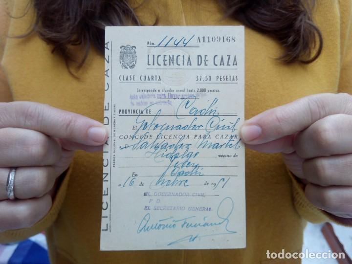 TUBAL CADIZ LICENCIA DE CAZA 1951 15 CM (Libros Antiguos, Raros y Curiosos - Cocina y Gastronomía)