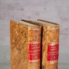 Libros antiguos: OBRAS-ESTUDIOS DEL REINADO DE FELIPE IV-A. CÁNOVAS DEL CASTILLO-TOMOS I Y II-MADRID 1888. Lote 114884419