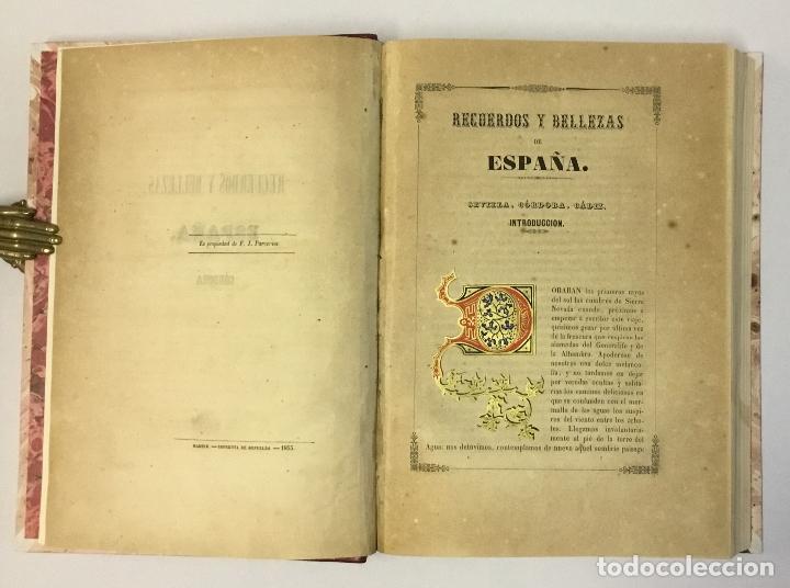 Libros antiguos: RECUERDOS Y BELLEZAS DE ESPAÑA. CORDOBA. MADRAZO, P. de. 1855. LITOGRAFÍAS DE PARCERISAS. - Foto 3 - 114799640