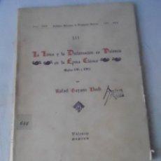 Libros antiguos: LIBRO VALENCIA LA LIRICA Y LA DECLAMACION EN VALENCIA EN LA EPOCA CLASICA S. XVI Y XVII GAYANO LLUCH. Lote 114931791
