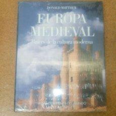 Libros antiguos: ATLAS CULTURALES DEL MUNDO EUROPA MEDIEVAL RAÍCES DE LA CULTURA MODERNA DE LECTORES PRECINTADO. Lote 114996103