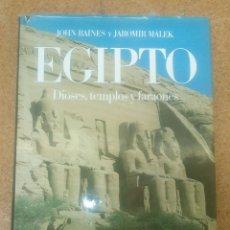 Libros antiguos: ATLAS CULTURALES DEL MUNDO EGIPTO DIOSES,TEMPLOS Y FARAONES CIRCULO DE LECTORES. Lote 114996179