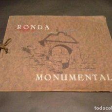 Libros antiguos: RONDA MONUMENTAL ALBUM FOTOGRAFICO AÑOS 20-30. Lote 115124775