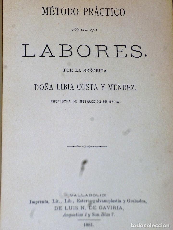 Libros antiguos: MÉTODO PRÁCTICO DE LABORES - Foto 2 - 115149711