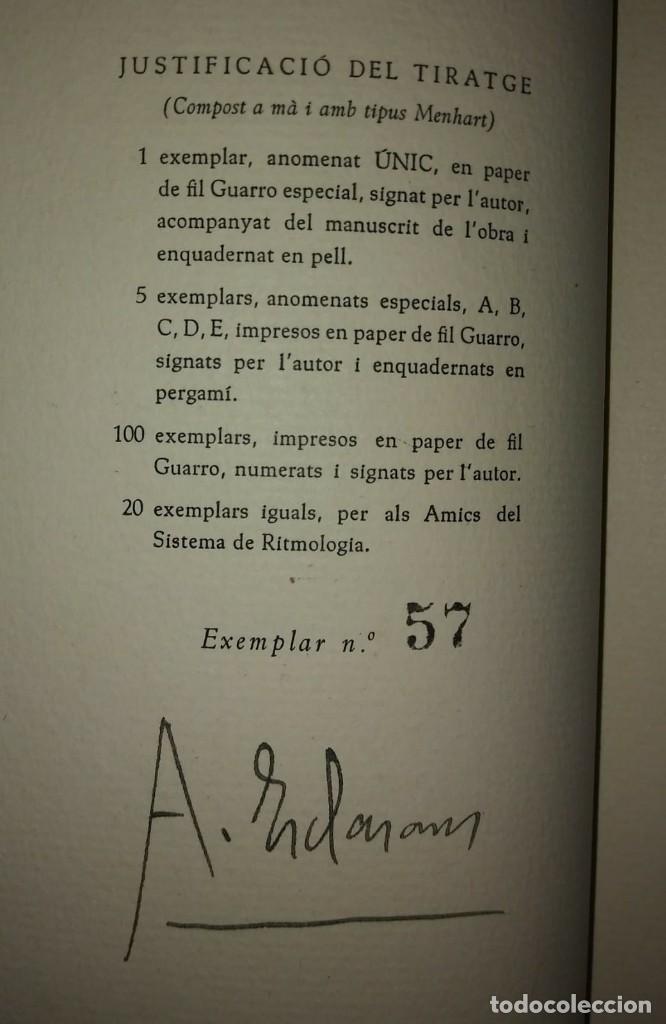 Libros antiguos: PRIMER I SEGON LLIBRE D'ELEGIES Numerat, dedicat i firmat per l,autor AGUSTI ESCLASSANS - Foto 4 - 115188499