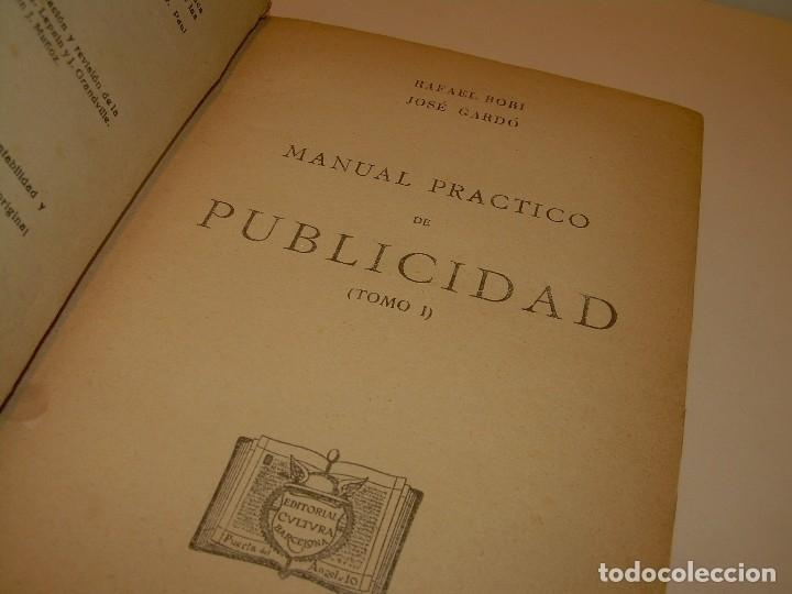 Libros antiguos: MANUAL PRACTICO DE PUBLICIDAD..DOS TOMOS EN UN MISMO LIBRO....AÑO. 1928..CON INFINADAD DE GRABADOS. - Foto 3 - 115229199